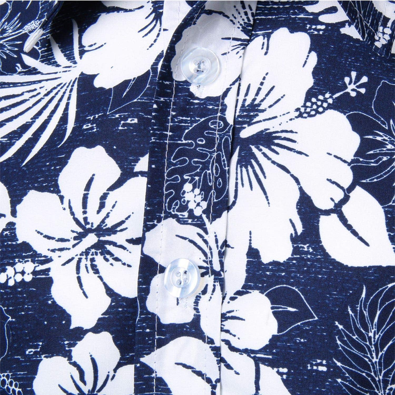 Mens Beach Hawaiian Shirt Short Sleeve Plus Size Floral Shirts Men Casual Holiday Vacation Clothing Camisas