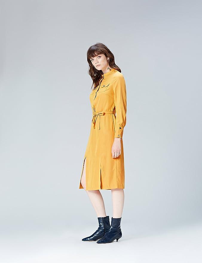 FIND Damen Midi-Kleid mit Hemd-Design: Amazon.de: Bekleidung