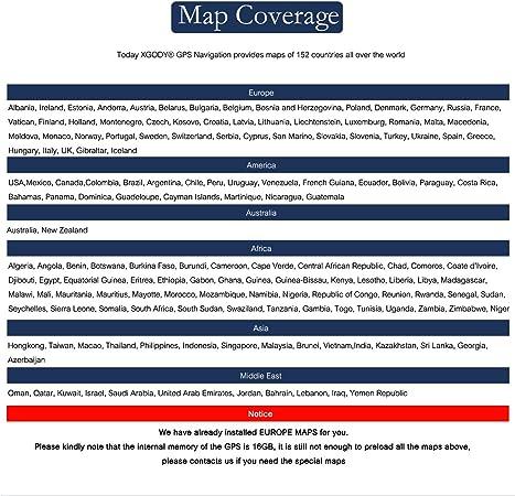Xgody 884 - Sistema de navegación GPS para camión para Coche de 7 ...