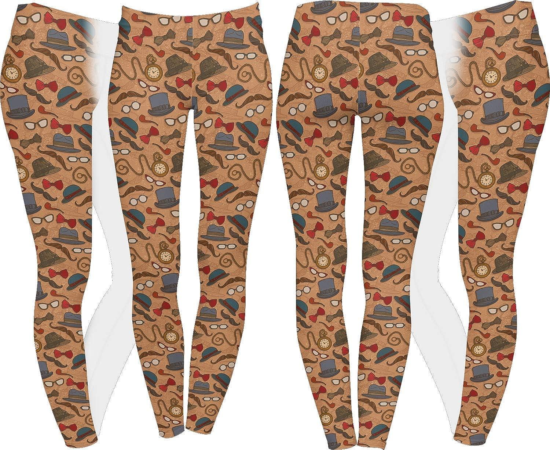 Personalized Vintage Hipster Ladies Leggings
