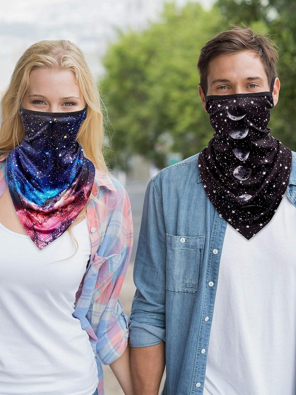 SATINIOR 6 Pi/èces /Écharpe de Couverture de Visage avec doreille Boucles Cache-Cou Protection Anti-UV Cagoule pour Hommes Femmes