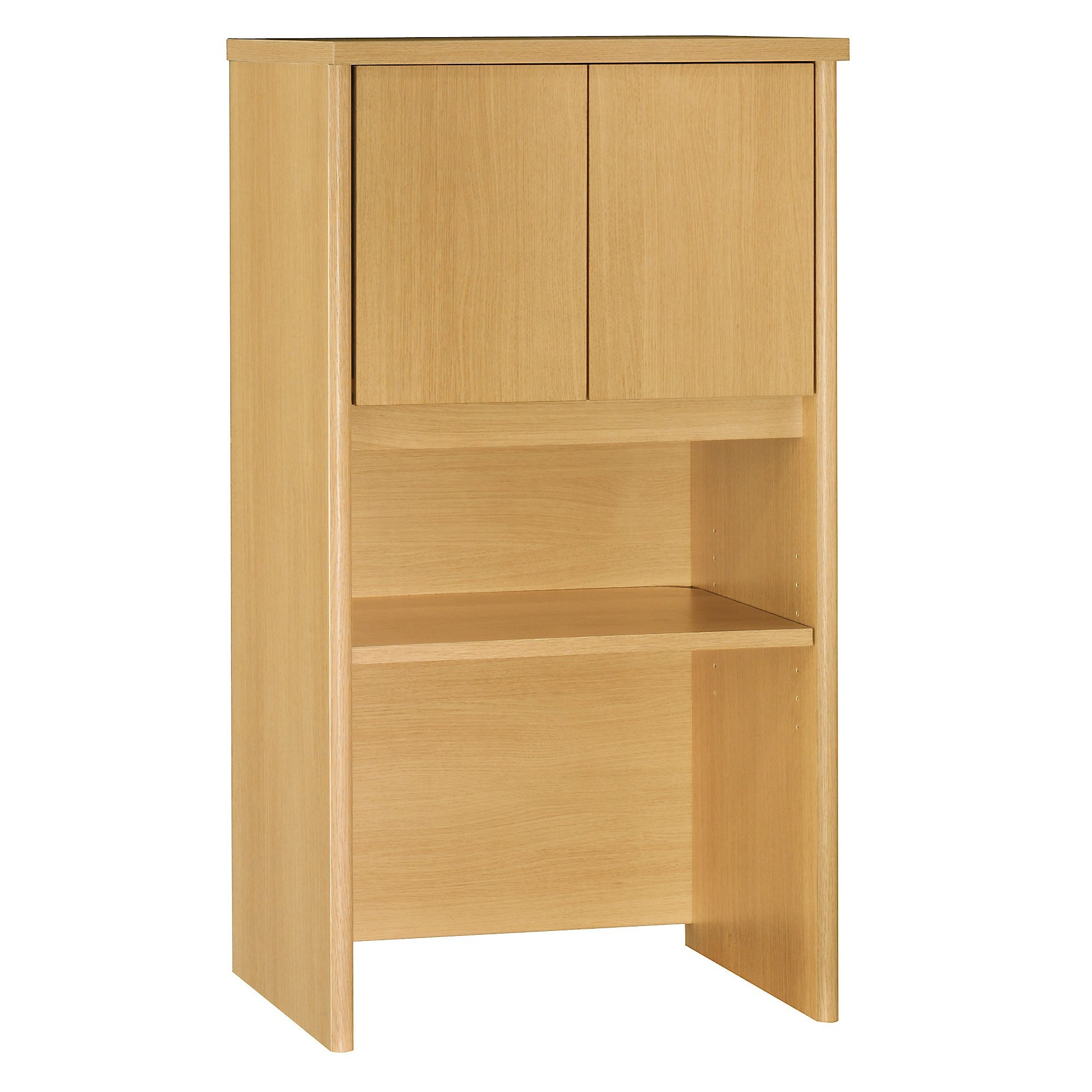 Bush Business Furniture Series C Collection 24W Hutch in Light Oak