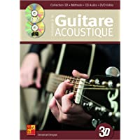 Initiation à la guitare acoustique en 3D (1 Livre + 1 CD + 1 DVD)