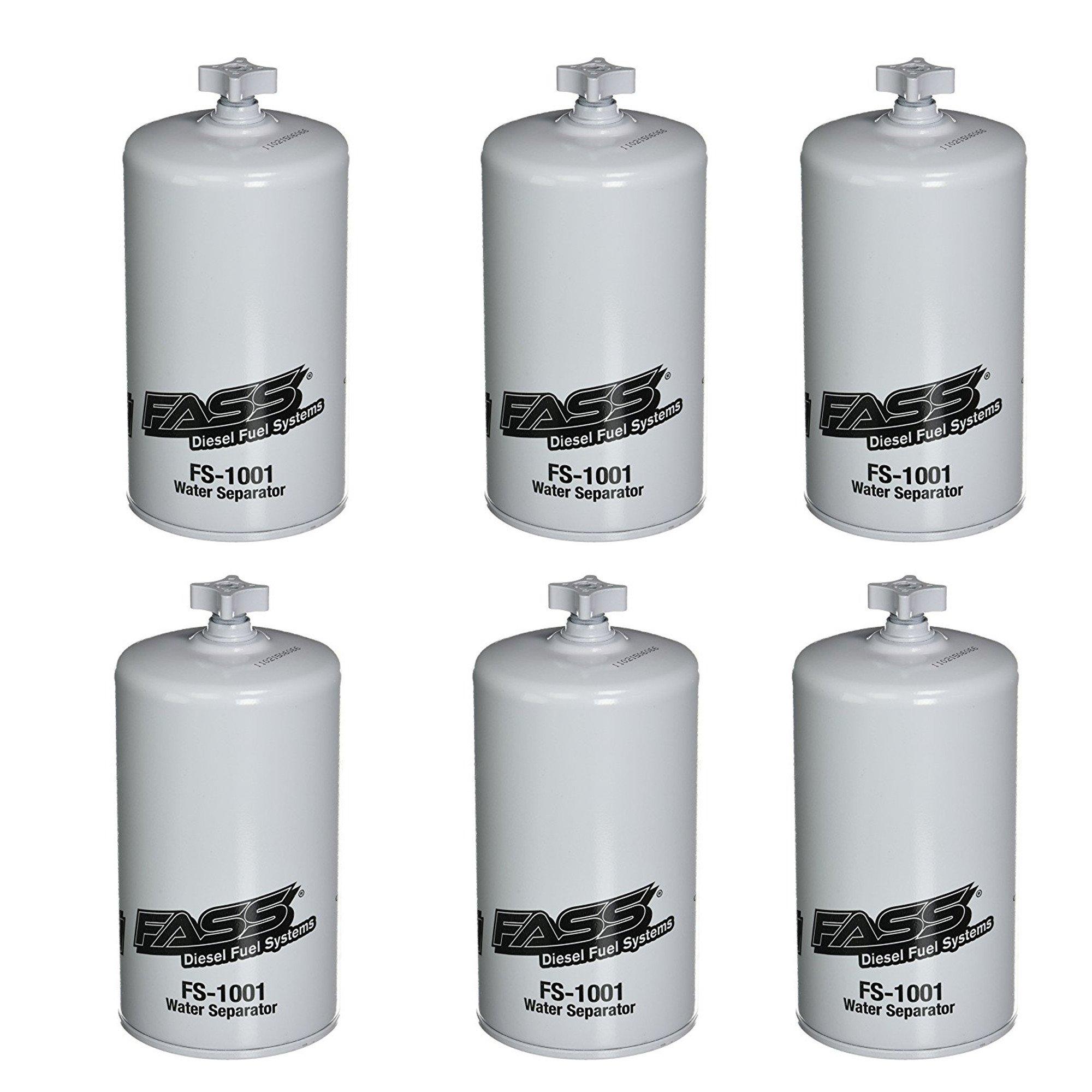 FASS FS-1001 (Lot of 6) Titanium Series Water Separator Fuel Pump HD Water Separator For FASS Fuel System