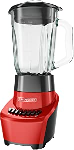 BLACK+DECKER FusionBlade Blender with 6-Cup Glass Jar, 12-Speed Settings