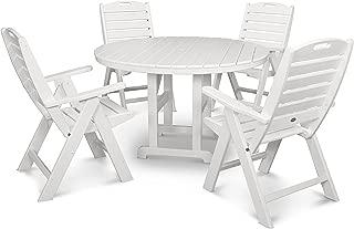 product image for POLYWOOD Nautical Dining Set, White