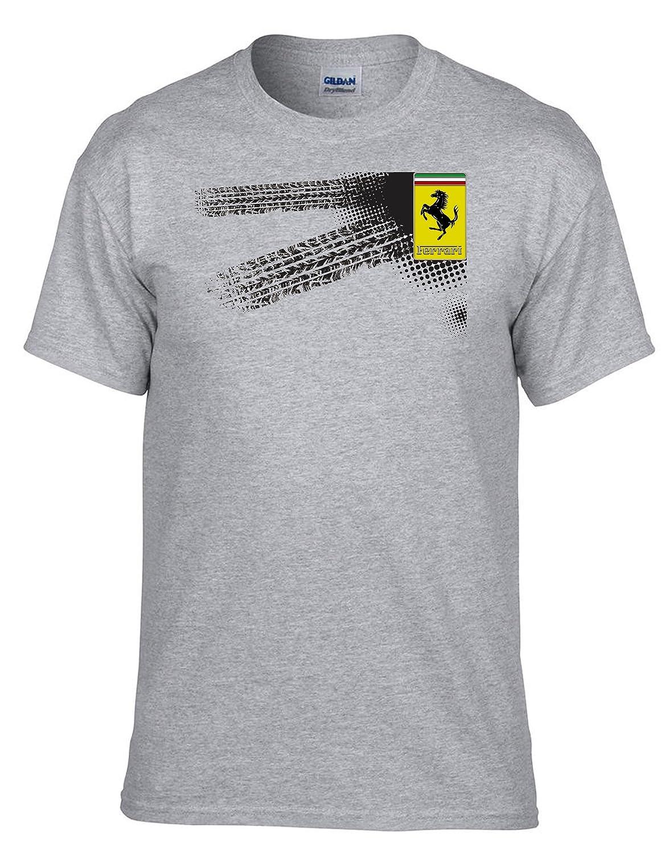 037-Gris Auto Logo Car Fun T-Shirt Ferrari