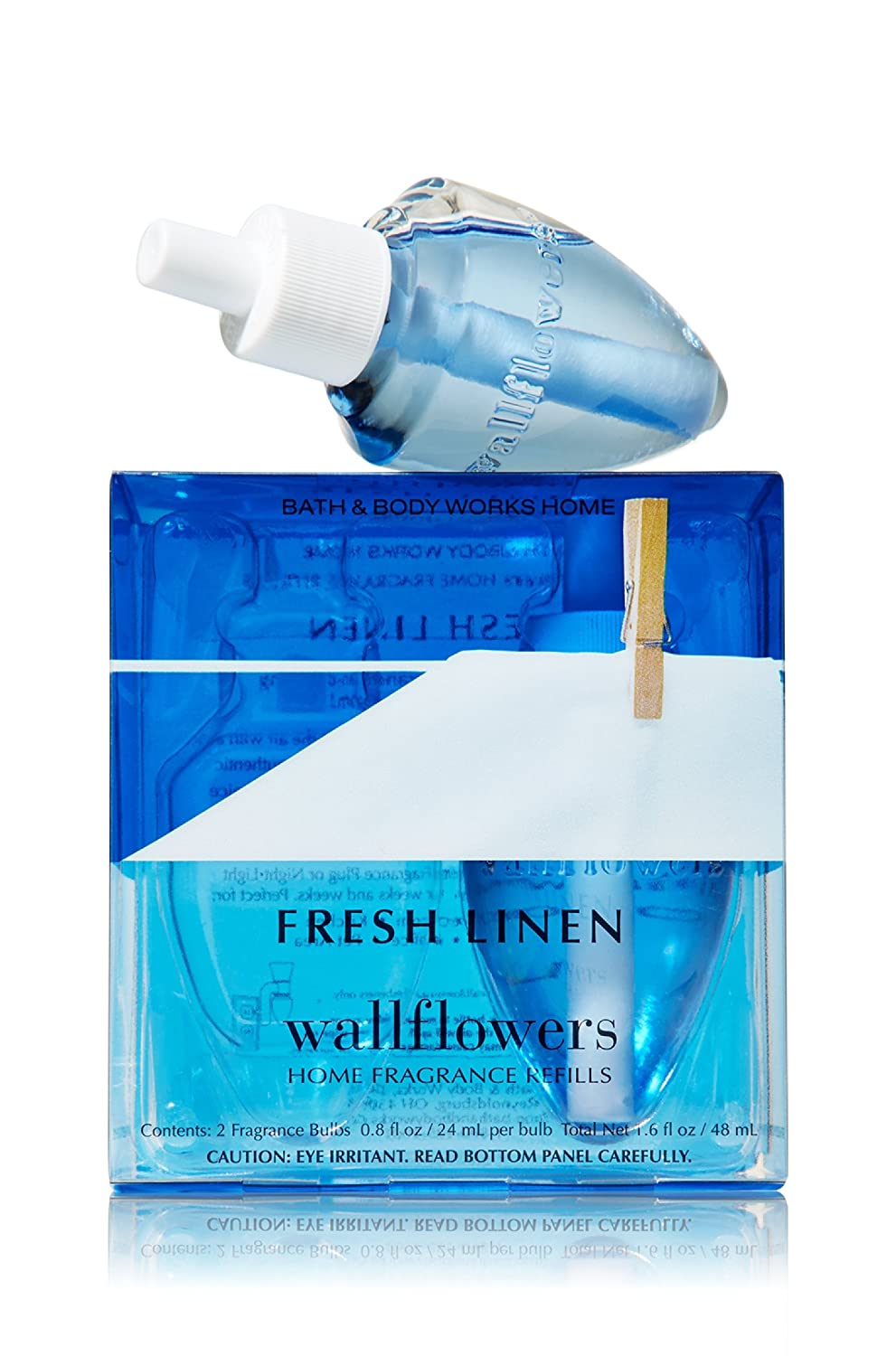 Bath & Body Works Fresh Linen Wallflowers Home Fragrance Refills, 2-Pack (1.6 fl oz total)