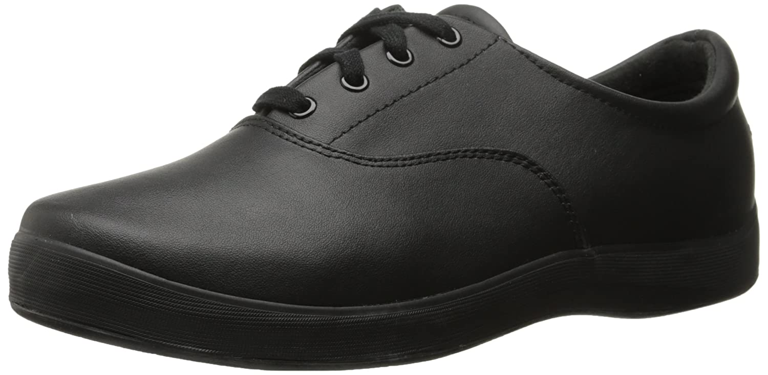 Grasshoppers Women's Janey Leather Lace-Up Sneaker B0035537BQ 8.5 B(M) US Black Leather