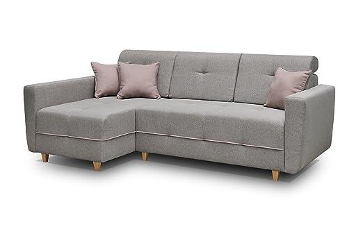 MEUBLO sofá de Esquina Convertibles 3 Plaza Tela Estilo ...