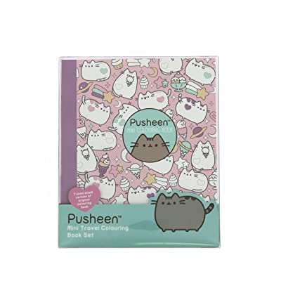 Pusheen Travel Colouring Book with multi-coloured pencils: Home & Kitchen