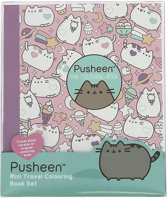 Amazon.com: Pusheen Travel Colouring Book With Multi-Coloured Pencils: Toys  & Games