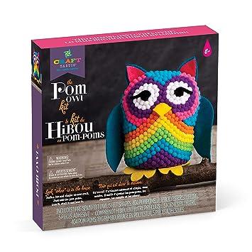Amazon Com Craft Tastic Pom Owl Craft Kit Makes One Pompom Owl