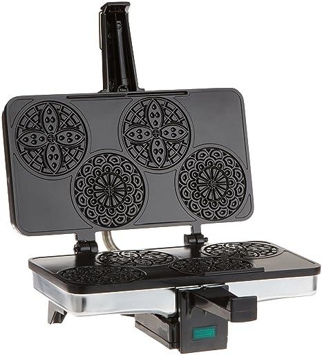 Amazon Com Cucinapro 220 03 Mini Pizzelle Maker Black Silver