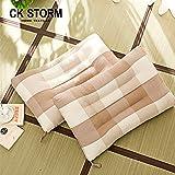 CK STORM 家纺床上用品 全棉护颈定型记忆枕 粗布枕套填充羽丝棉 记忆枕