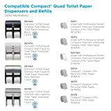 Compact 4-Roll Quad Coreless High-Capacity Toilet