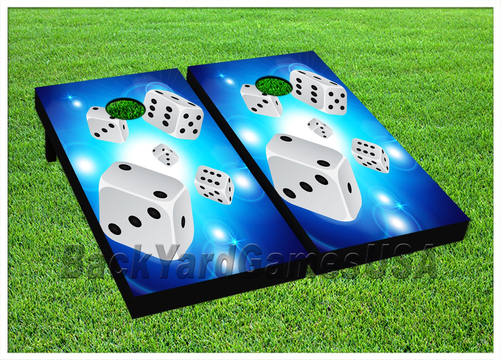 CORNHOLE BEANBAG TOSS GAME w Bags Game Dice Casino Gambling Boards Set 902 by BackYardGamesUSA