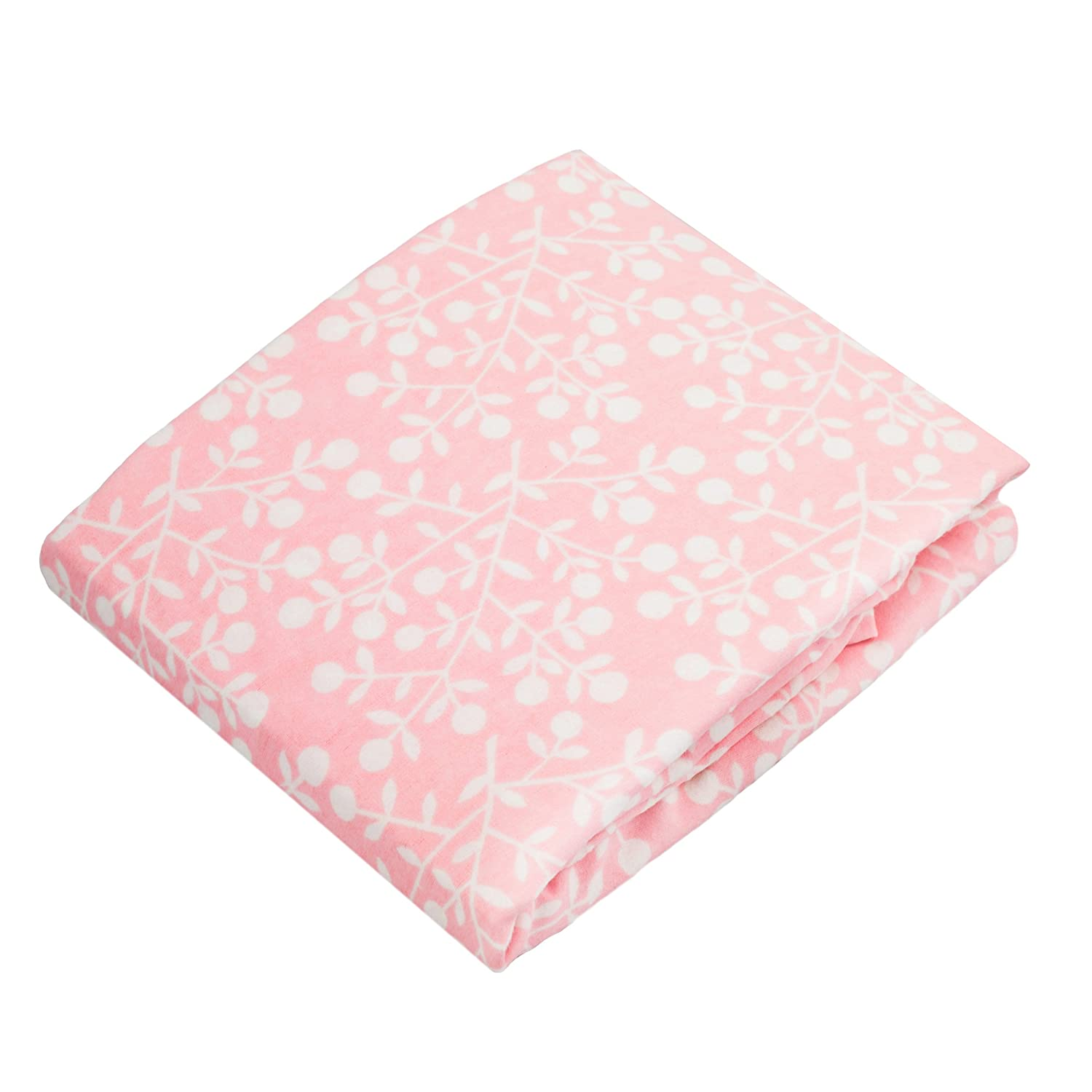 Kushies Changing Pad Cover for 1 pad, 100% breathable cotton, Made in Canada, Pink Berries Kushies Baby S340-524