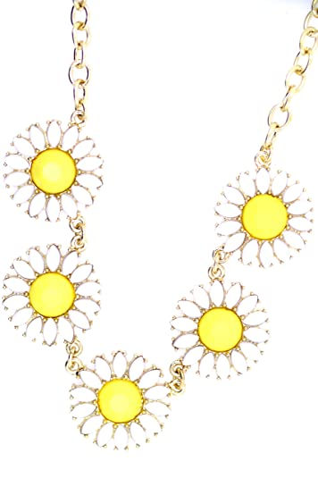 ScrodCat Fun Daisy Fashion Vintage Dot Bib Bubble Rhinestone Gold Tone Statement Necklace 36MDIZfc