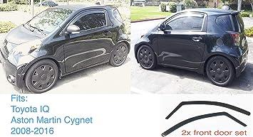 2 X Kompatibel Mit Aston Martin Cygnet Toyota Iq 2008 2015 Windabweiser Dunkel Getöntes Acrylglas Tür Seitenfenster Innenraumvisier Regen Schneeschutz Amazon De Auto