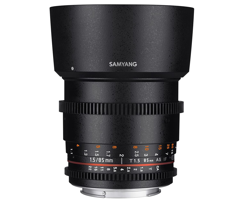 Samyang F Objetivo para Canon EF distancia focal fija mm diámetro filtro: