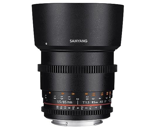 6 opinioni per Samyang F1313001101 Obiettivo VDSLR per Canon EF, 85 mm, Apertura T1.5-22 AS IF