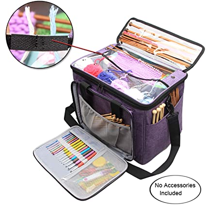 Kitchen Storage & Organization Knitting Bag Yarn Storage Craft Tote Inner Divider For Wool Crochet Needles Storage Hand Tool Bag Travel Makeup Organizer Pouch