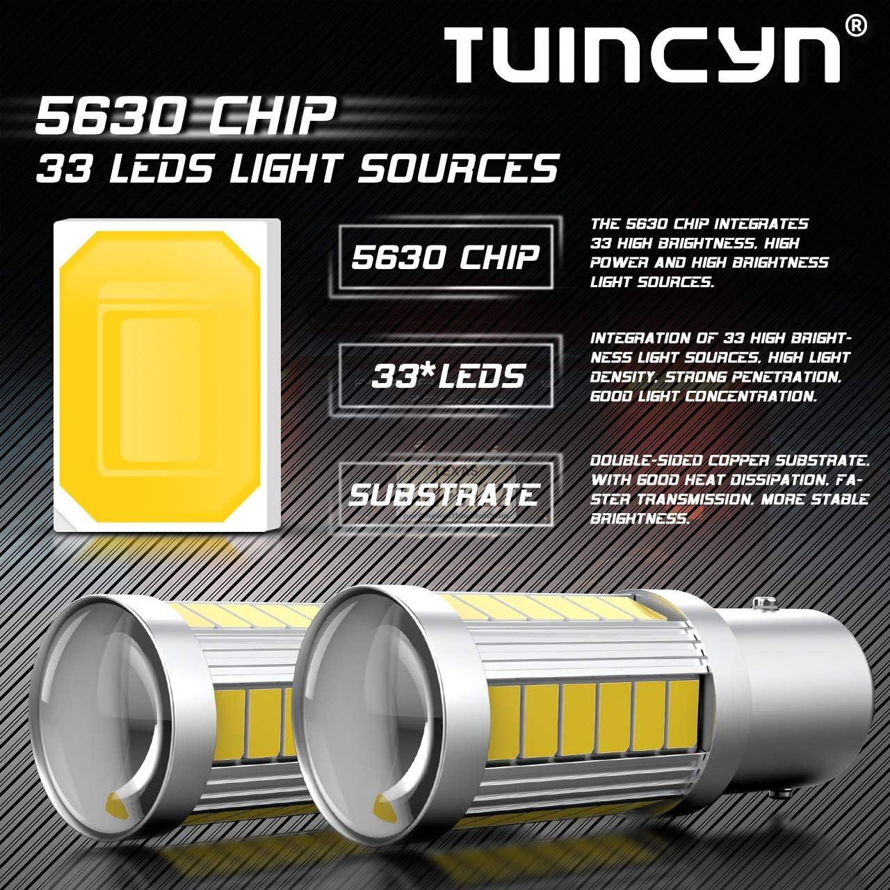 12 V CC 3,6 W 1016 confezione da 2 1034 900 lumen luminose luci per freno parcheggio bianca Lampadine LED BAY15D Tuincyn frecce 1157 di TUINCYN luce di stop 5630 33SMD