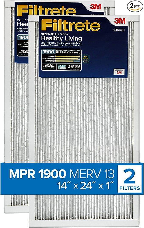 Nordic Pure 12x18x1 Exact MERV 12 Tru Mini Pleat AC Furnace Air Filters 2 Pack