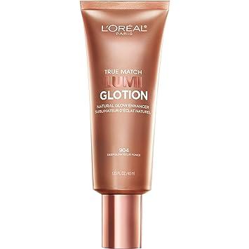L'Oreal Paris Makeup True Match Lumi Glotion Natural Glow Enhancer Highlighting Lotion, 1 Count, Deep