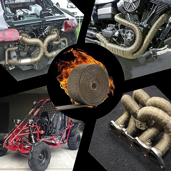 """Heat Wrap Green Exhaust 2/"""" x 25/' Roll Header NEW"""