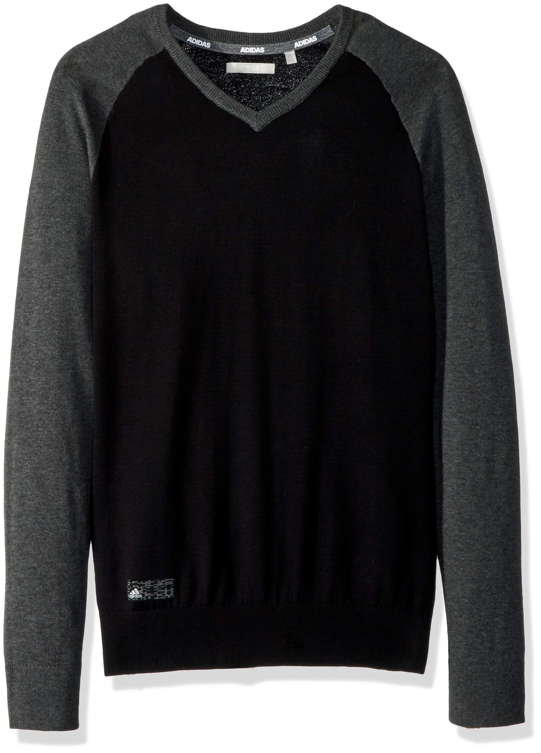 adidas Golf Essentials Sweater, Black HTR, X-Small