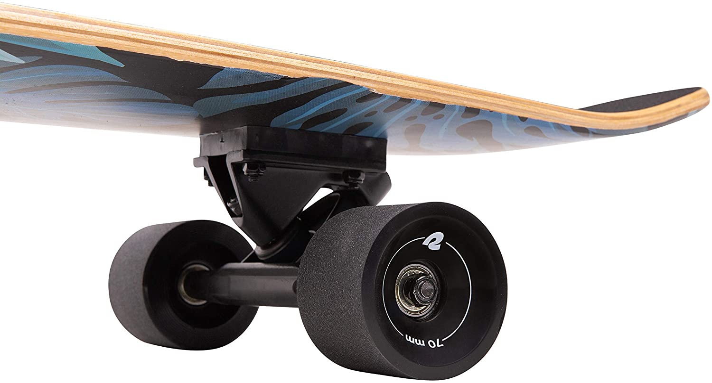 Carving /& Downhill Riding Bamboo /& Canadian Maple Wood Cruiser w//Reverse Kingpin Trucks for Commuting Cruising Retrospec Zed Longboard Skateboard Complete Cruiser