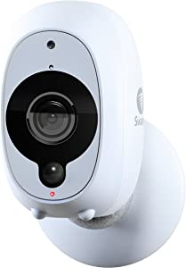 Swann Smart Security Camera: 1080p Full HD Wireless Security Camera with True Detect PIR Heat/Motion Sensor, Night Vision & Audio