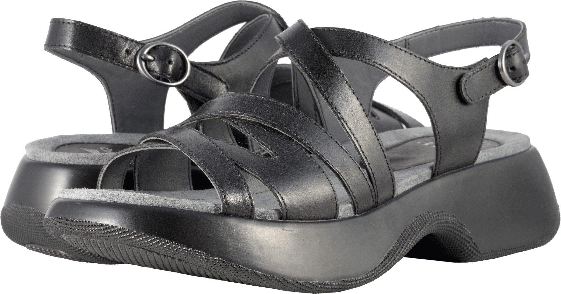 Dansko Women's Lolita Sandal, Black Full Grain, 36 M EU (5.5-6 US)