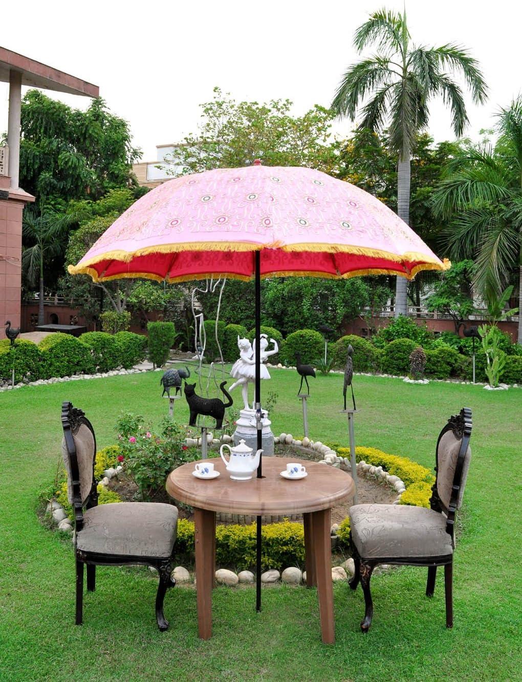Decorativo al aire libre Paraguas Parasol Sombrilla de jardín grande 133 x 183 cm: Amazon.es: Jardín