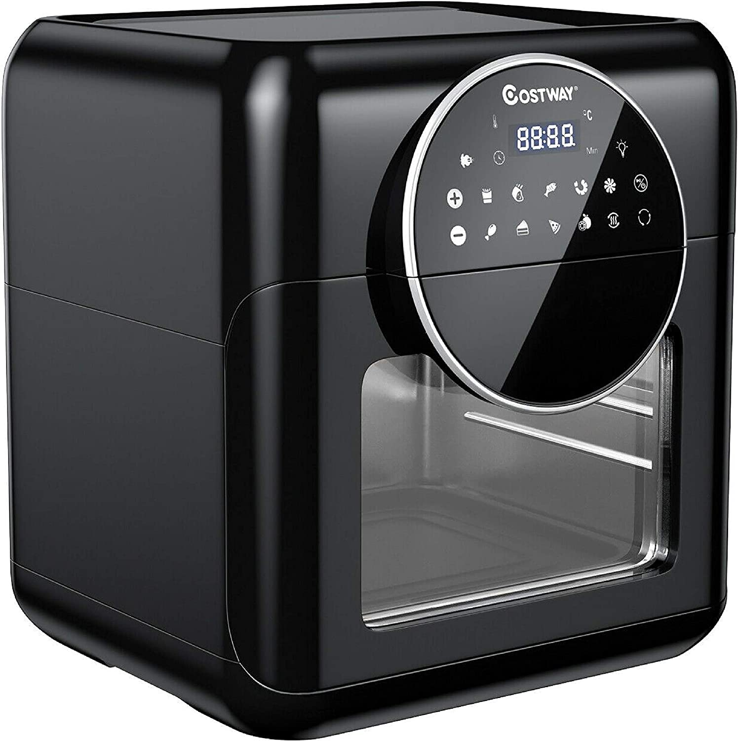 HomyDelight Deep r, 10.6QT 8-in-1 Air r Digital Toaster Oven Rotisserie with Accessories
