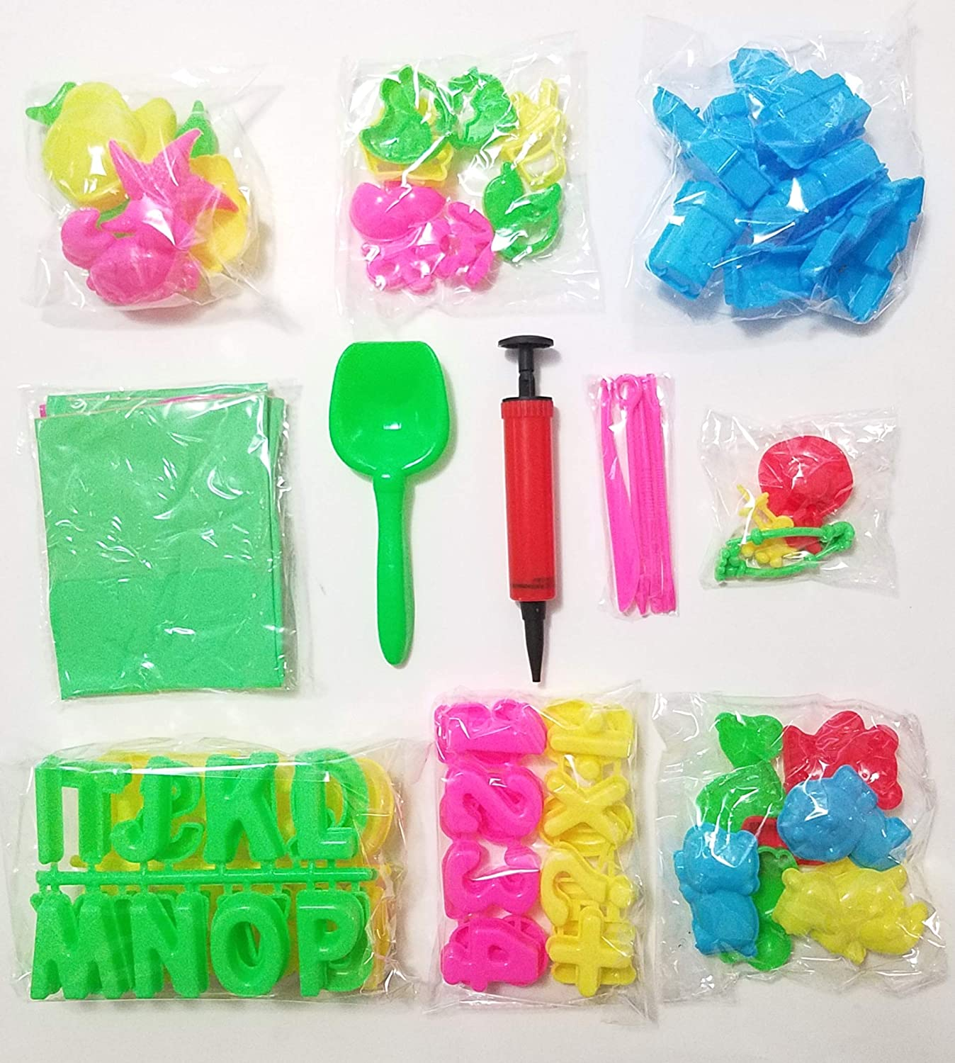 JM 95 Piece Deluxe Complete Activity Sand Molds Tools Set Works with All Other Play Sand Brands