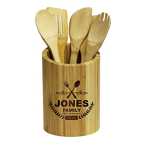 Charmant Amazon.com: Engraved Kitchen Tool Utensil Storage Holder   Gifts For Her,  Couples, Housewarming For New Home   Custom Personalized For Free: Kitchen  U0026 ...