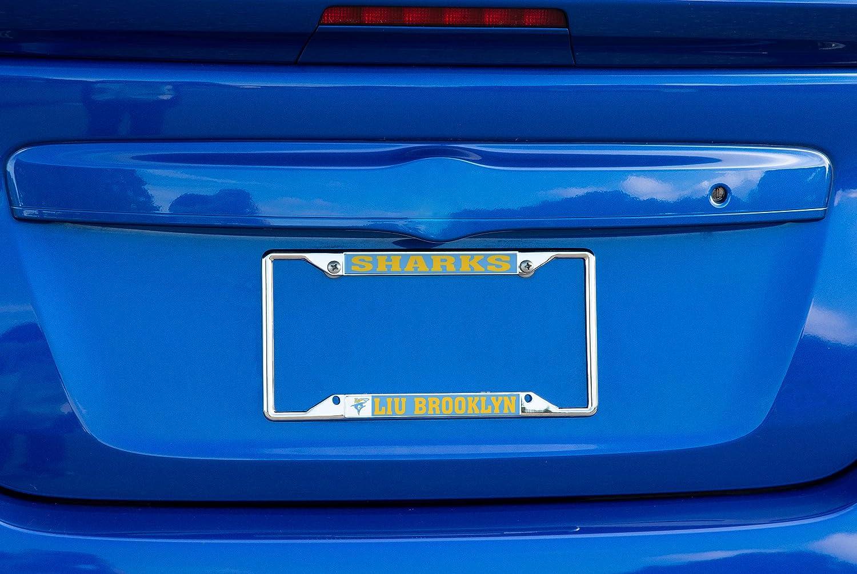 Alumni Desert Cactus Long Island University LIU Sharks NCAA Metal License Plate Frame for Front Back of Car Officially Licensed