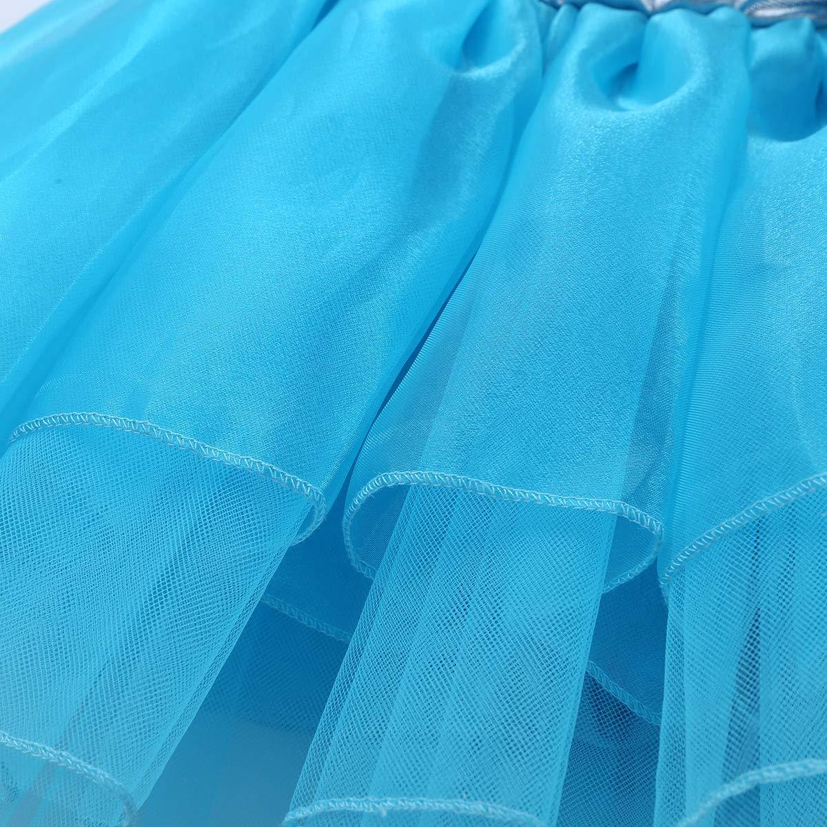 YiZYiF Kids Girls Camisole Sequined Tutu Ballet Dance Party Leotard Dress