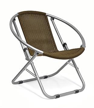 Exceptionnel Urban Shop Outdoor Wicker Web Saucer Chair, Brown