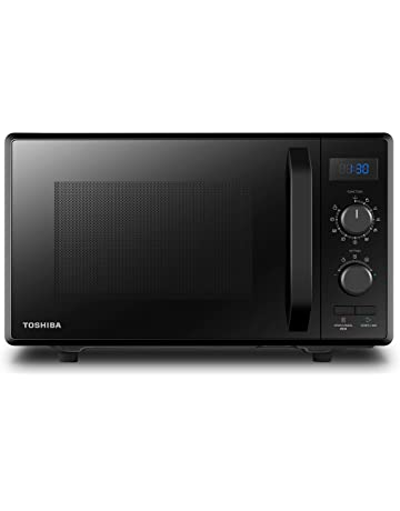 Toshiba Microwave Oven 23L MW2-AG23PF(BK) 900W with Crispy Grill 1050W & Combination Cooking, Energy Saving Eco Function, 8 Auto Menus, 5 Power Levels and Position Memory Turntable-Black [Energy Class A+]