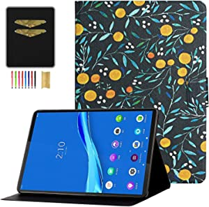 APOLL Cover for Lenovo Tab M10 HD 10.1 Inch Android Tablet, PU Leather Shockproof Folio Stand [Flower Series] Case for Lenovo Tab M10 HD TB-X505F TB-X505L / Lenovo Tab M10 10.1