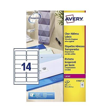Avery L7563-25 - Etiquetas de envío para sobres, compatibles con ...