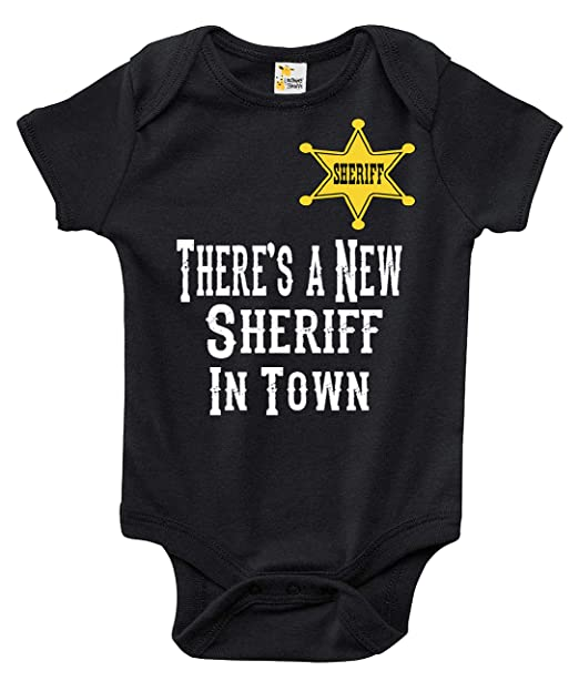 4fdcee0cf Amazon.com: Baby Bodysuit - There's a New Sheriff in Town Baby Clothes for  Boys and Girls: Clothing
