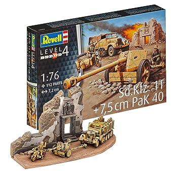 Revell- Maqueta de Tanque SD.Kfz.11 & 7,5 cm Pak 40 ...