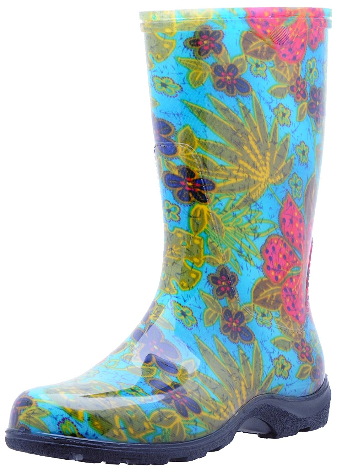 SloggersWomen's Waterproof Rain and Garden Boot with Comfort Insole, Midsummer Blue, Size 8,Style 5002BL08