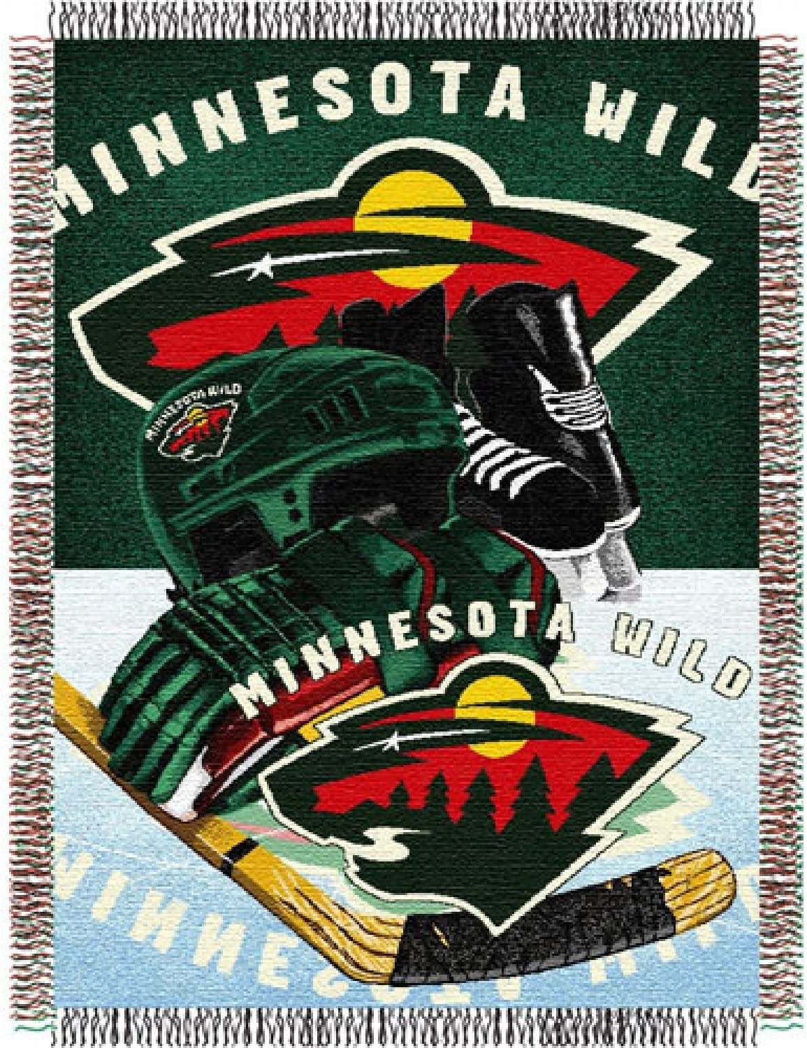48 x 60 Officially Licensed NHL Homefield Ice Advantage Woven Tapestry Throw Blanket Multi Color