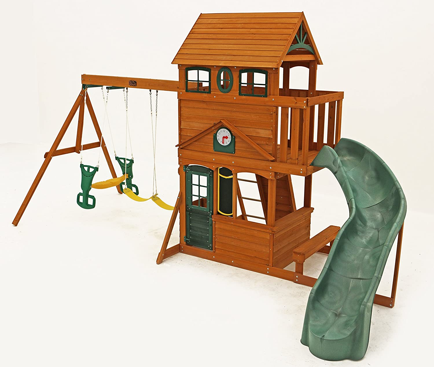amazon com big backyard ashberry ii wooden play set toys u0026 games